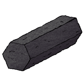 Coconut charcoal briquette hexagonal shape