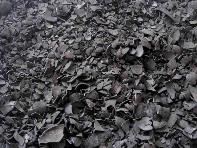 Coconut shell charcoal in Indonesia
